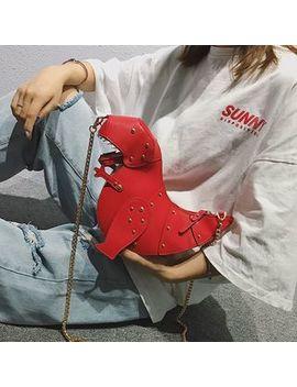 Mulgam   Faux Leather Dinosaur Shoulder Bag by Mulgam