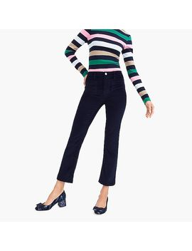 Petite Billie Demi Boot Crop Jean In Velvet by J.Crew