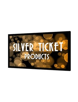 "Str 169150 S Silver Ticket 4 K Ultra Hd Ready Cinema Format (6 Piece Fixed Frame) Projector Screen (16:9, 150"", Silver Material) by Silver Ticket Products"