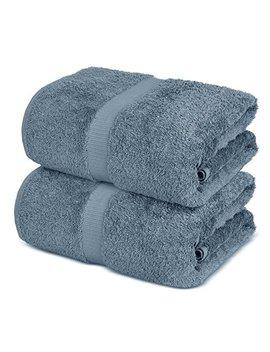 Towel Bazaar 100 Percents Turkish Cotton Bath Sheets, 700 Gsm, 35 X 70 Inch, Eco Friendly (2 Pack, Slate Blue) by Towel Bazaar