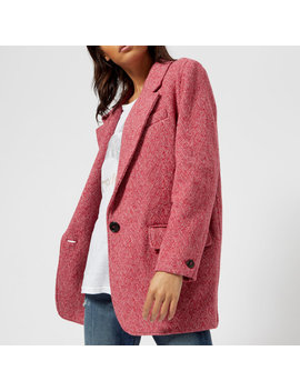 Isabel Marant Etoile Women's Floyd Herringbone Short Coat   Raspberry by Isabel Marant