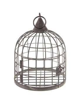 Gray Distressed Metal Bird Cage by Hobby Lobby