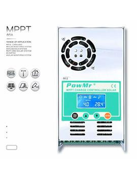 Pow Mr 60amp 48 V 36 V 24 V 12 V Auto Mppt Solar Charge Controller Max 190 Vdc Input Lcd Backlight Solar Charge For Vented Sealed Gel Ni Cd Lithium Battery【Software Update Version】(60 A) by Pow Mr