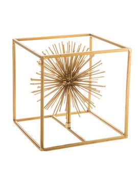 Gold Metal Sunburst Cube Decor by Hobby Lobby