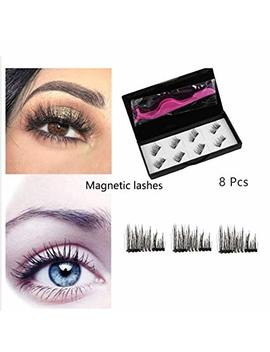 Magnetic Eyelashes, Rvzhi Premium Quality False Eyelashes Set With Eyelash Tweezer, Ultra Thin 3 D Fiber Magnetic Lashes Fake Lashes Extensions, Natural Look Easy To Apply... by Irvzhi