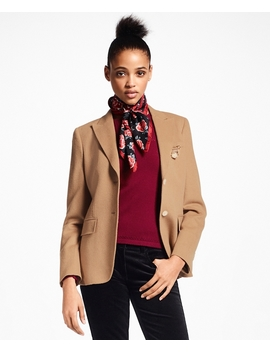 Petite Camel Hair Jacket by Brooks Brothers