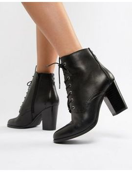 Aldo Ibauvia Leather Heel Lace Up Boots by Aldo