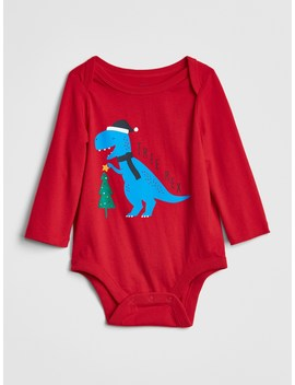 Sleigh Long Sleeve Bodysuit by Gap