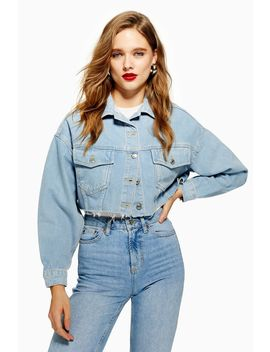 Cropped Denim Jacket by Topshop