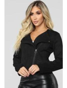 Shirley Suede Jacket   Black by Fashion Nova