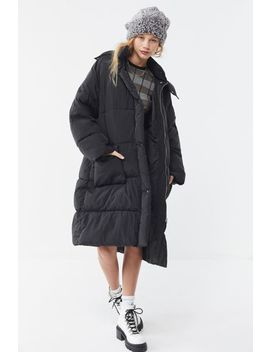 Uo Quilted Longline Puffer Coat by Urban Outfitters