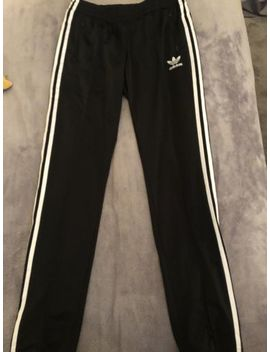 Womens Black Adidas Tracksuit Bottoms/Jogger<Wbr>S Size 10 by Ebay Seller