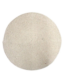 Natural Burlap Cord Placemat by At Home