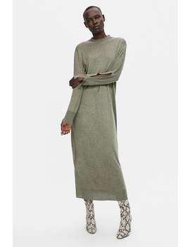 Knit Dress With Slits  View All Dresses Woman by Zara
