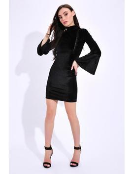 Black Velvet Mini Dress by I Saw It First
