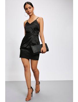 Black Ruched Front Cami Mini Dress by I Saw It First