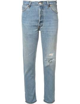 High Rise Cropped 'non Destruction' Jeans by Re/Done