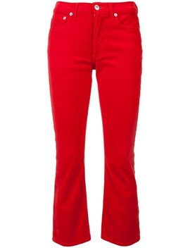 Velvet Kick Flare Cropped Trousers by Re/Done