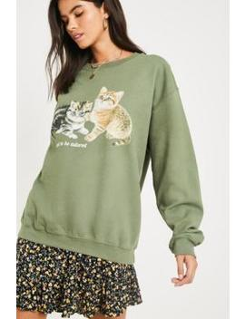 Uo Kittens Crew Neck Sweatshirt by Urban Outfitters