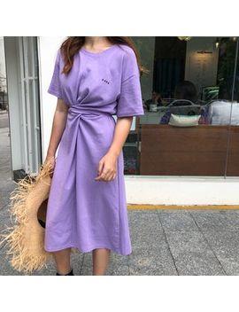 Tomoca   Short Sleeve Midi T Shirt Dress by Tomoca