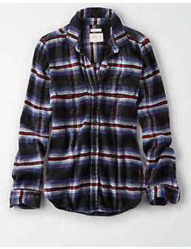 Ae Ahhmazingly Soft Plaid Shirt Jacket by American Eagle Outfitters