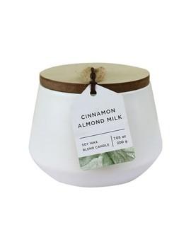 7.05oz Matte Ceramic Jar Candle Cinnamon Almond Milk   Chesapeake Bay Candle by Chesapeake Bay Candle