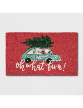 "1'6""X2'6"" Car Doormats Poinsettia   Opalhouse™ by Shop Collections"
