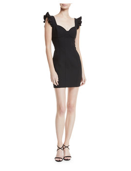 Jolie Mathis Sweetheart Neck Seamed Mini Cocktail Dress by Neiman Marcus