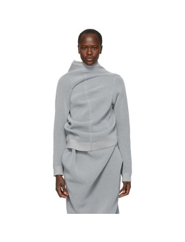 Grey Reflective Sweater by Jil Sander