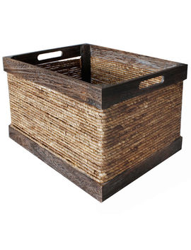 Wood And Maize Rustic Crate   Large by At Home