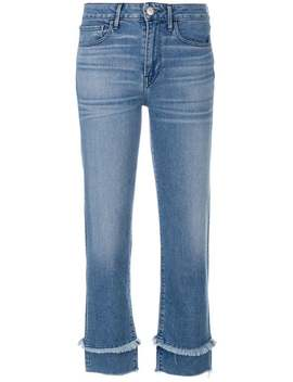 Cropped Frayed Detail Jeans by 3 X1