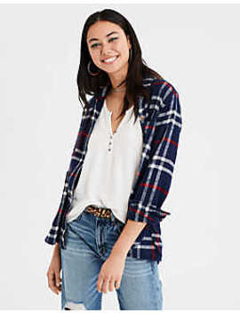 Ae Ahhmazingly Soft Holiday Bf Plaids by American Eagle Outfitters