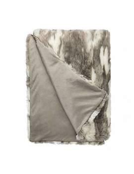 Marble Faux Fur 150cm X 200cm Throw by Dunelm