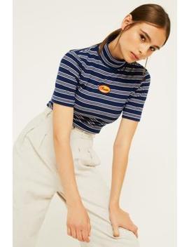 Lazy Oaf Stripe Roll Neck T Shirt by Lazy Oaf