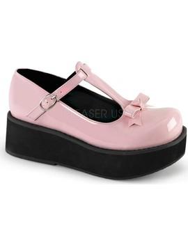 Sprite 03 T Strap Platform Shoe by Demonia