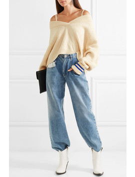 Cold Shoulder Wool Blend Sweater by Maison Margiela
