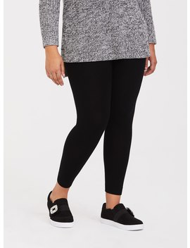 Black Sweater Legging by Torrid