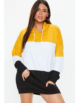 Plus Size Yellow Colourblock Sweater Dress by Missguided