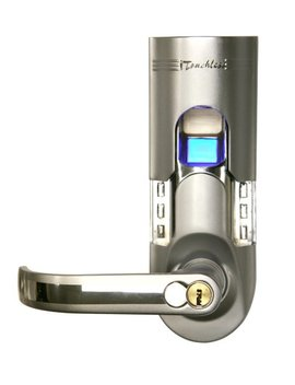 I Touchless Bio Matic Fingerprint Door Lock, Left Handle, Silver by I Touchless