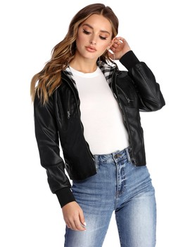 Baby It's Cold Faux Leather Jacket by Windsor