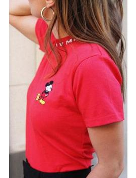 Gcds Classic Mickey Red T Shirt by Gcds