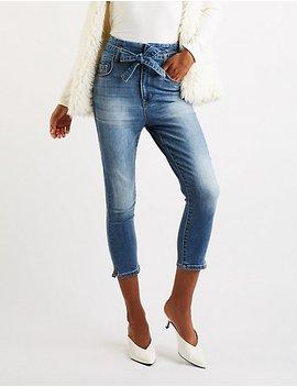 Refuge Paperbag Skinny Jeans by Charlotte Russe