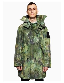 Men's Green No Ghost Just Shell Parka Fungus Camo by Brain Dead