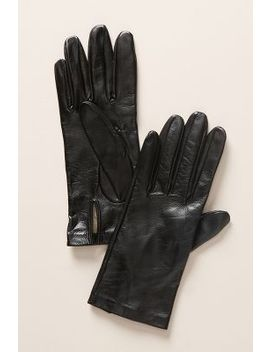 Leather Silk Lined Gloves by Carolina Amato