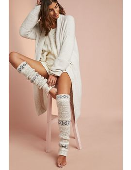Snowflake Striped Leg Warmers by Lemon