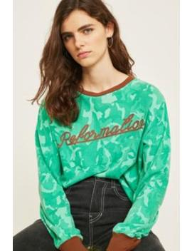 Fleamadonna Camo Print Long Sleeve T Shirt by Fleamadonna