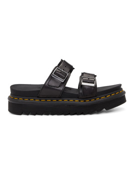 Black Myles Slides by Dr. Martens