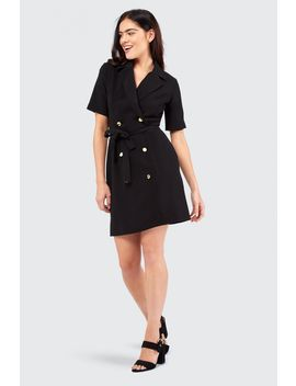 Crepe Belted Jacket Dress by Select