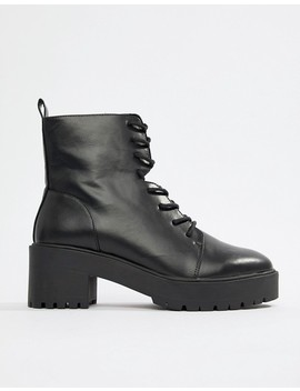 Asos Design Wide Fit Raider Chunky Lace Up Boots by Asos Design