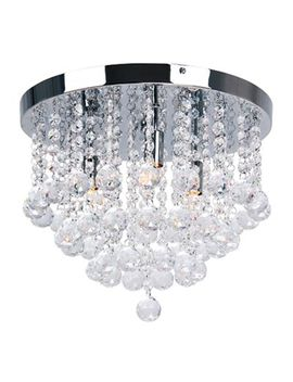 Home Collection   'aliyah' Crystal Glass Flush Ceiling Light by Home Collection